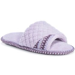Muk Luks Womens Sally Open-Toe Slippers