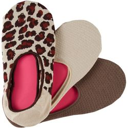 Hue Womens 3-pk. Leopard Print High Cut Cotton