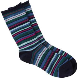 Hue Womens Striped Mid-Calf Socks