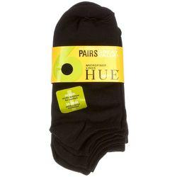 Hue 6-pk. Black Microfiber Liner Socks