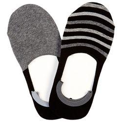 Hue Womens 2-pk. Striped Sneaker Liner Socks