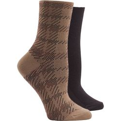 Hue Womens 2 Pc. Winter Soft Crop Boot  Socks