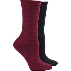 Womens 2-pc. Rolltop Boot Socks