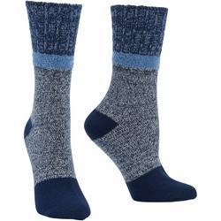 Womens Soft Marled Boot Socks
