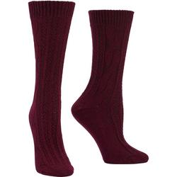 Womens Cable Boot Socks