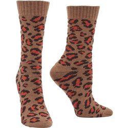 Hue Womens Leopard Print Boot Socks