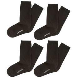 Hue Womens 4-pk. Solid Crew Socks