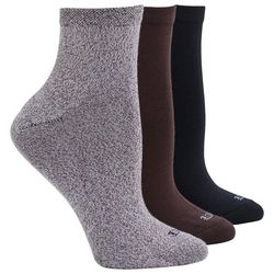 Hue Womens 3-Pk Supersoft Cropped Socks