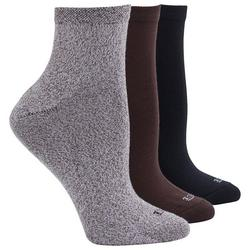 Womens 3-Pk Supersoft Cropped Socks