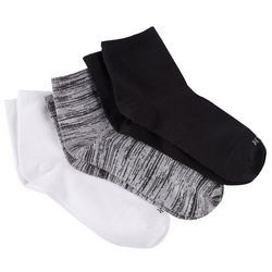 Hue Womens 3-Pk Solid Supersoft Cropped Socks