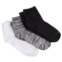 Womens 3-Pk Solid Supersoft Cropped Socks
