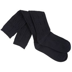 Hue Womens Solid Cable Knit Knee Socks