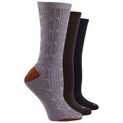 Hue Womens 3-Pack Super Soft Crew Socks