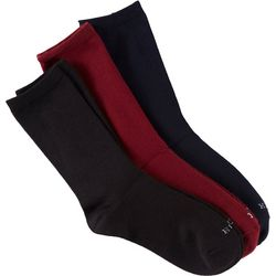 Hue Womens 3-Pack Super Soft Crew Socks