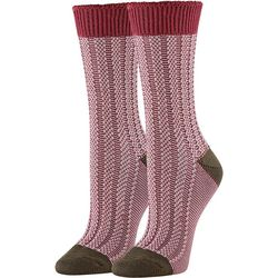 Hue Womens Supersoft Colorblocked Ribbed Boot Socks