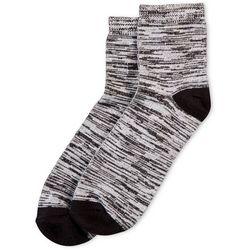Hue Womens Space Dye Supersoft Cropped Socks