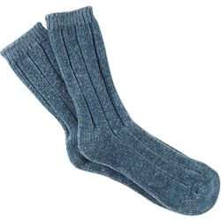 Hue Womens Solid Chenille Ribbed Boot Socks