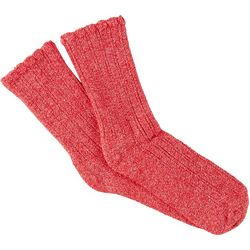 Hue Womens Sleepwell Heathered Scalloped Crew Socks