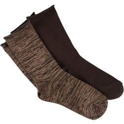 Womens 2-pk. Supersoft Roll Top Boot Socks