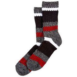 Hue Womens Stripe Print Ribbed Boot Socks
