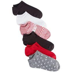 Hue Womens 6-pk. Mixed Print Liner Socks