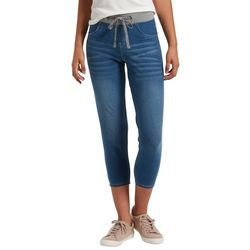 Hue Womens Sweatshirt Denim Jegging Capri