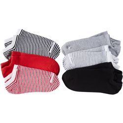 Hue Womens 6-pk. Multi Stripe Liner Socks