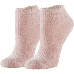 Hue Womens Solid Furry Liner Socks