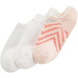Hue Womens 3-pk. Cushioned Chevron Low Cut Liner Socks