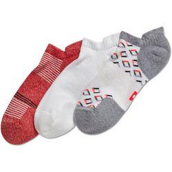 Hue Womens 3-pk. Cushioned No Show Tab Socks