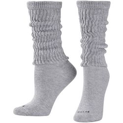 Hue Womens Solid Slouch Socks