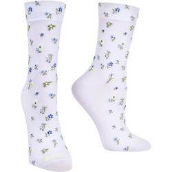 Hue Womens Floral Pixie Cushioned Mid-Calf Socks