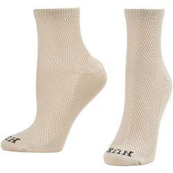 Hue Womens Breezy Mesh Cotton Crew Socks