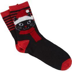 Brighten the Season Womens Santa Claws Socks