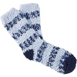 Cuddle Sox Womens Striped Popcorn Cozy Socks