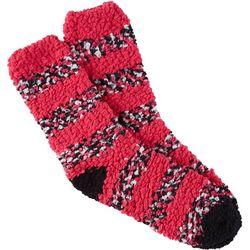 Cuddle Sox Womens Cozy Striped Popcorn Socks