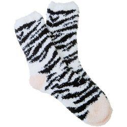 Cuddle Sox Womens Zebra Stripe Cozy Socks