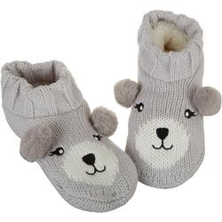 Womens Bear Faux Sherpa Slipper Socks