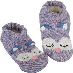 Capelli Womens Sleepy Owl Slipper Socks