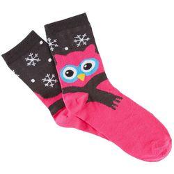 Brighten the Season Womens Snow Owls Socks