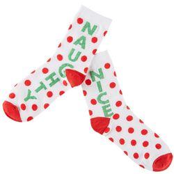 Brighten the Season Women's Naughty Nice Socks