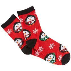 Brighten the Season Womens Puffy Penguin Socks
