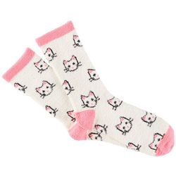 Cuddle Sox Womens Cat Micro Velour Socks