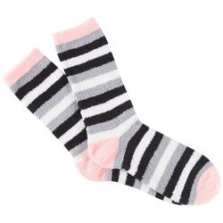 Cuddle Sox Womens Striped Cozy Socks