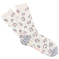 Cuddle Sox Womens Leopard Cozy Socks