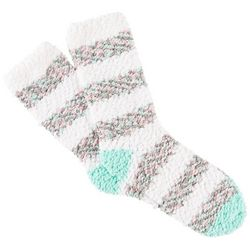 Cuddle Sox Womens Pastel Stripe Popcorn Cozy Socks