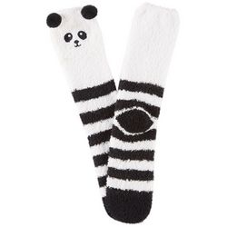 Cuddle Sox Womens Panda Pom Pom Cozy Socks
