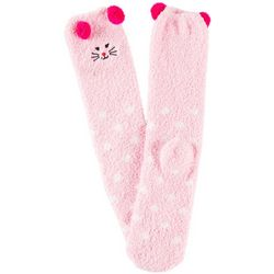 Cuddle Sox Womens Cat Pom Pom Cozy Socks