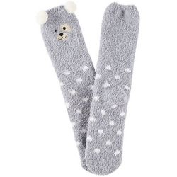 Cuddle Sox Womens Dog Pom Pom Cozy Socks
