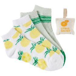 Minx NY Womens 4-pk. Citrus Infused Chenille Socks